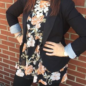 Forever 21 Floral Tunic Size Large